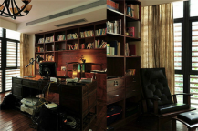 田园书房装修效果图,给你最美的阅读空